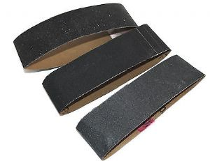 Spare Belts x 3 150 240 320 Grit for our 40mm Spring Loaded Finger Sander. W3298